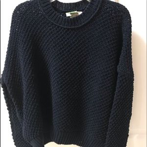 Madewell Navy chunky knit navy sweater good cond.